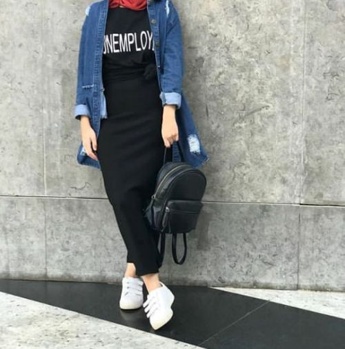 10670d85d2 How to wear pencil skirts with hijab – Just Trendy Girls | hijab ...