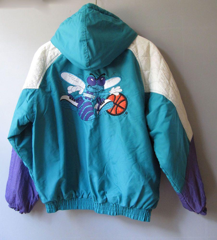 2c9eeaafd95 Charlotte Hornets Jacket Coat Mens Sz Large Starter Vintage  Starter   CharlotteHornets