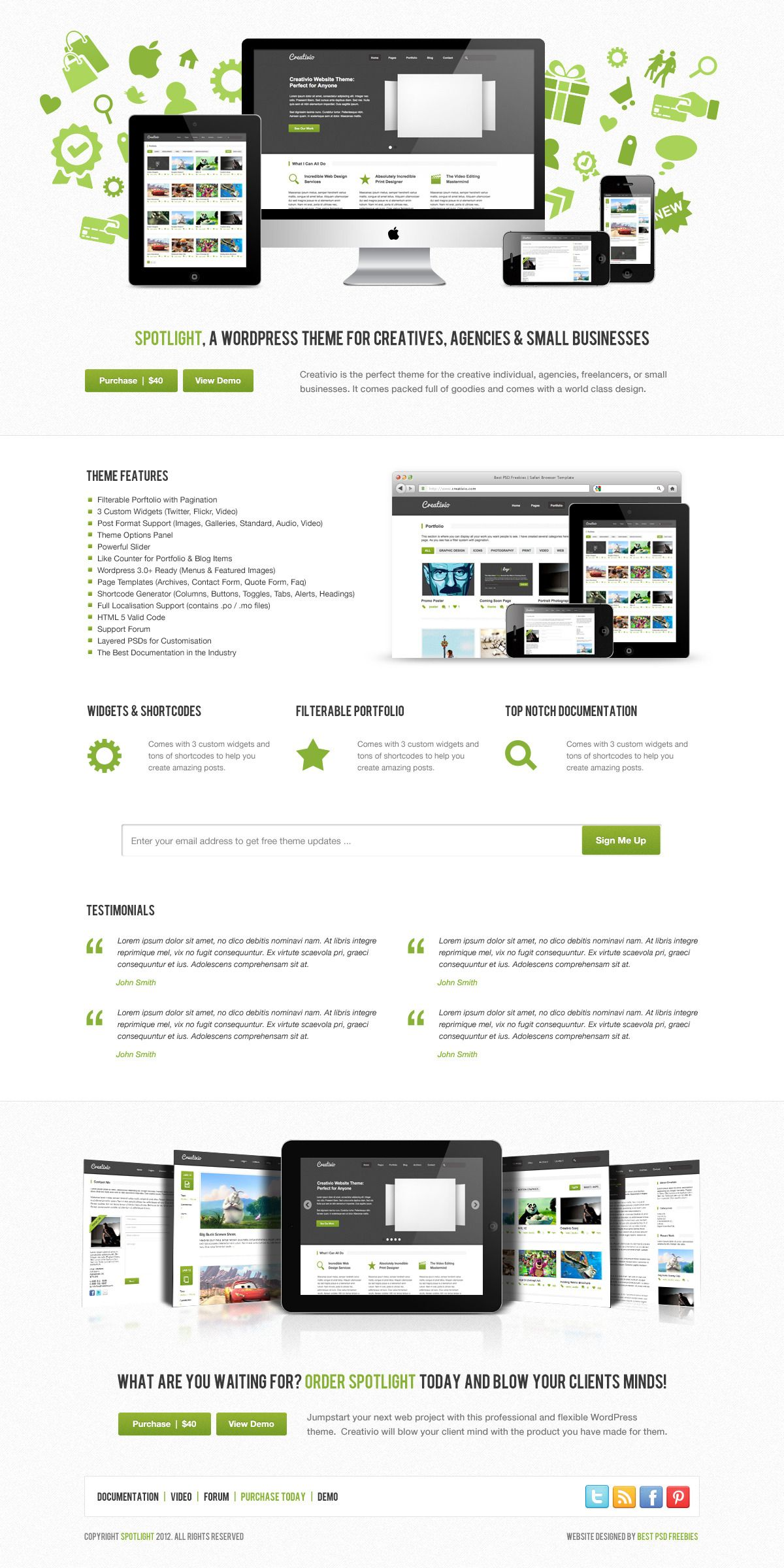 spotlight product launch web design theme web design pinterest
