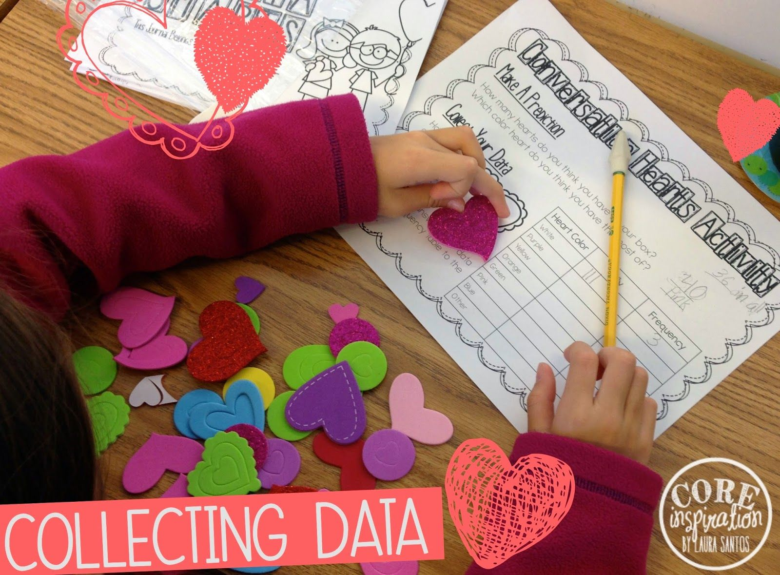 Dataysis Math Investigation Conversation Hearts And