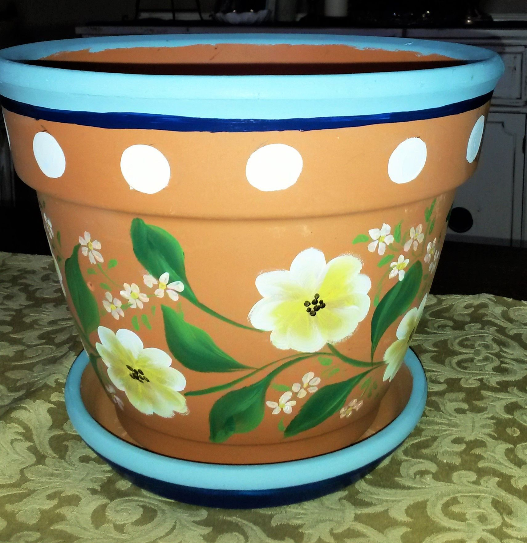 Tiestos Decorados 10 Quot Clay Flower Pot Manualidades Pinterest Tiesto
