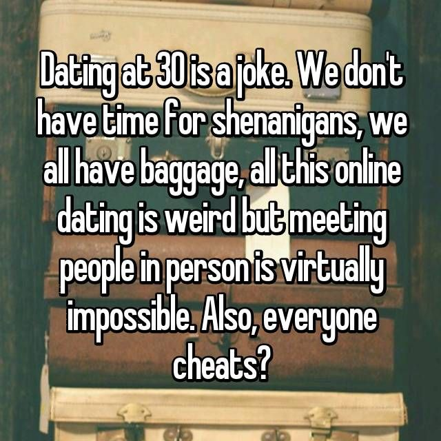 Over 30 dating