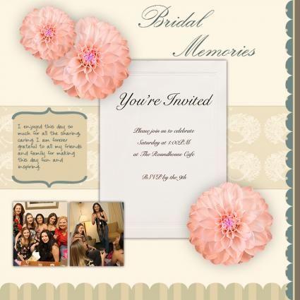 Scrapbook Ideas For Bridal Shower Invitations Lovetoknow Bridal Shower Scrapbook Wedding Album Scrapbooking Wedding Scrapbook Pages
