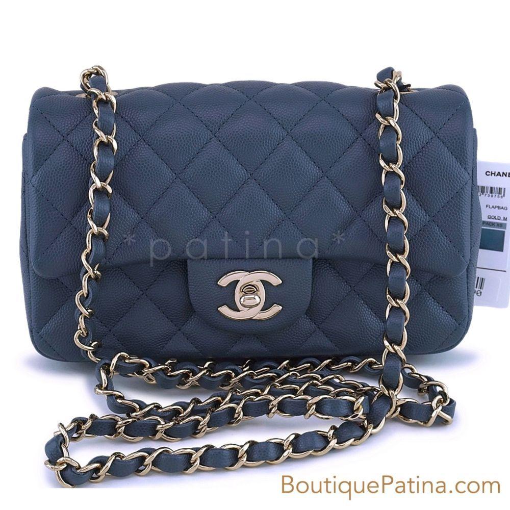 8ec3348e112a NWT 18B Chanel Gray Caviar Rectangular Mini Flap Bag GHW 63128 #fashion  #clothing #shoes #accessories #womensbagshandbags (ebay link)