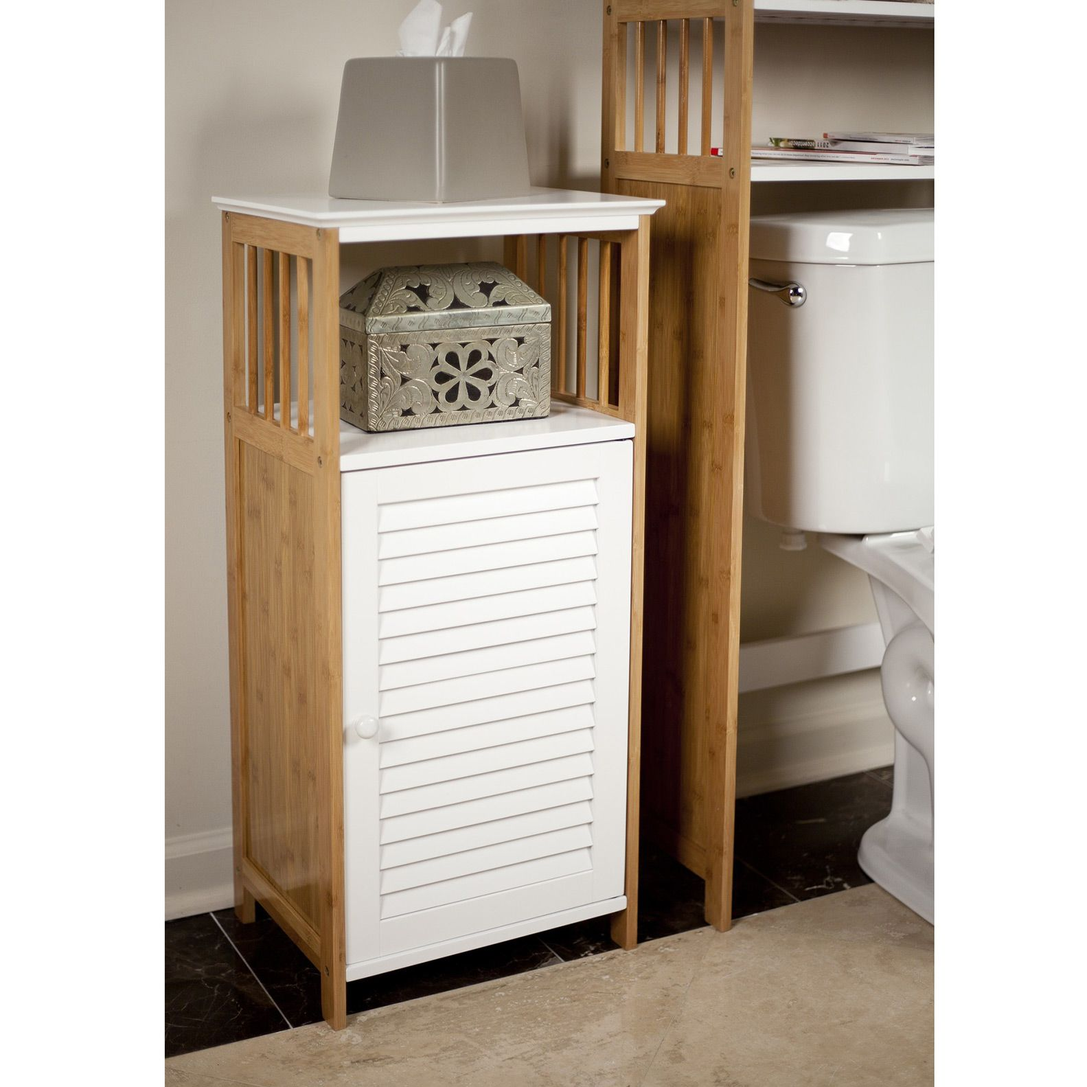 Bamboo Bath Storage Cabinet - Dot & Bo | Bathroom floor ...