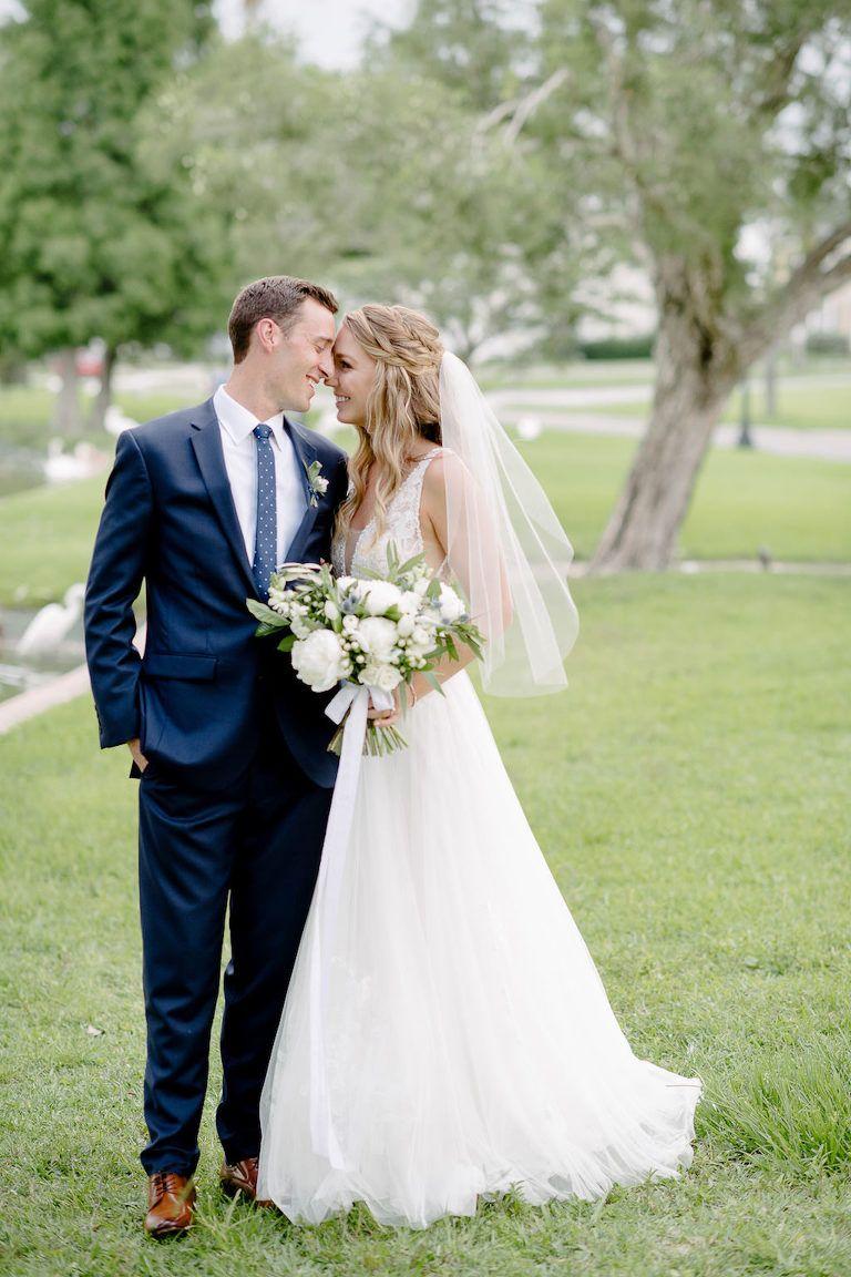 Romantic Navy Blue And Greenery Inspired Lakeland Wedding Haus 820 Wedding Lace Bodice Wedding Dress Outdoor Bride [ 1152 x 768 Pixel ]