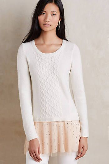 Cabled Ballerina Pullover