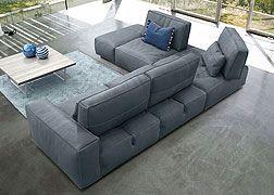 Gamma Arredamenti Soho Leather Sectional Sofa Sectional
