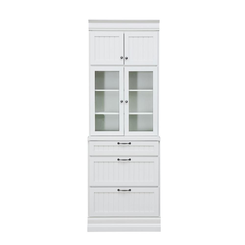Prefab Kitchen Cabinets Home Depot: Home Decorators Collection Martingale True White Beadboard