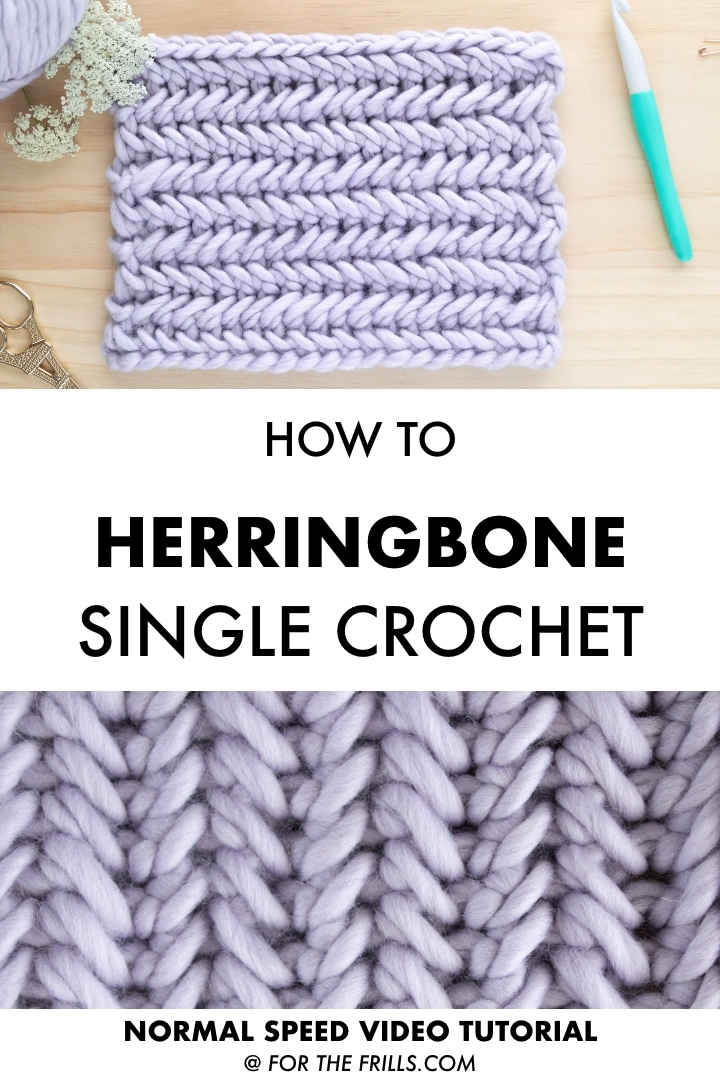 Photo of Einfaches Chevron Single Crochet Stitch Tutorial