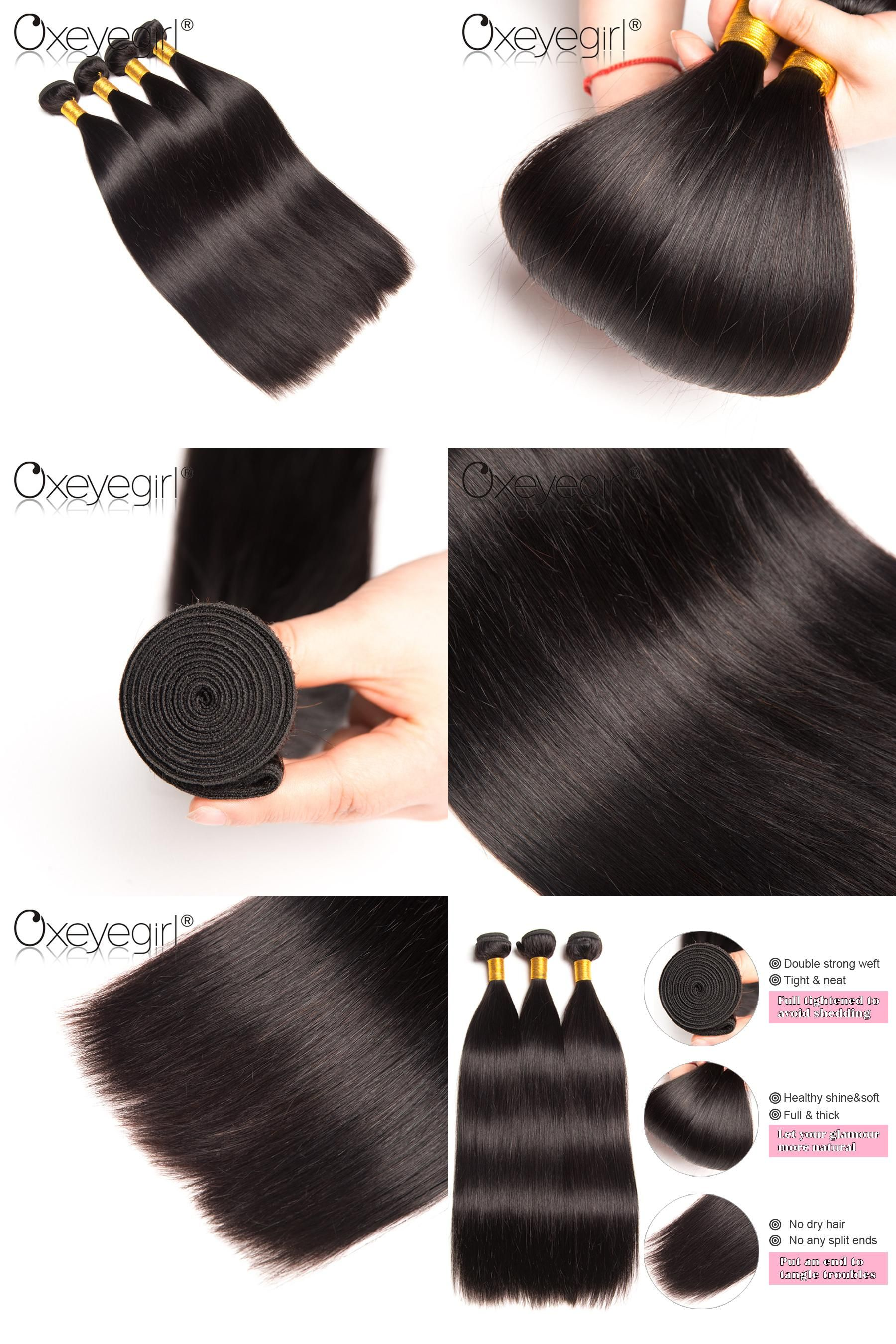 Visit To Buy Oxeye Girl Brazilian Hair Weave Bundles 1pc Straight