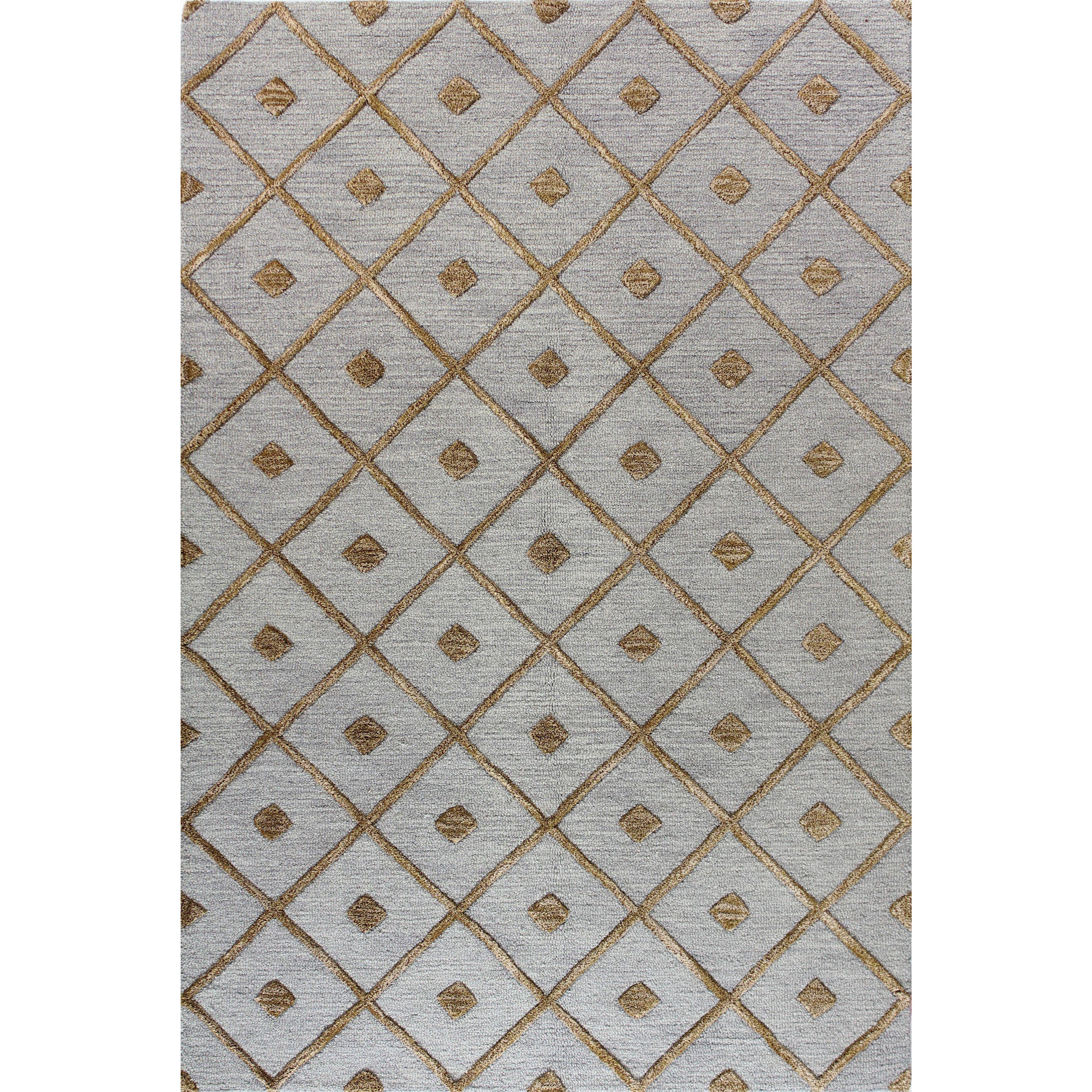 Caitlin Blue/Black/Brown Cotton Tufted Area Rug 4' X 6' (