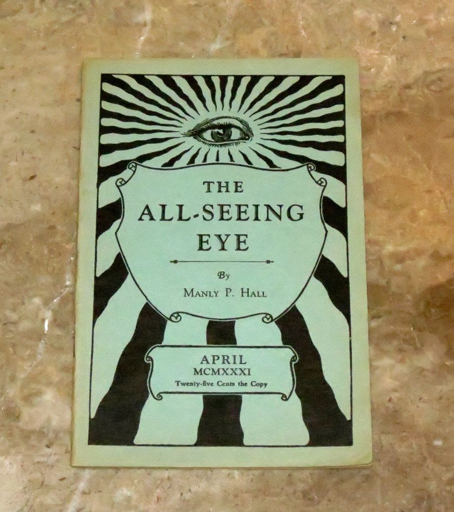 All Seeing Eye 1931 Occult Publication Manly P Hall 1st Edition Rare