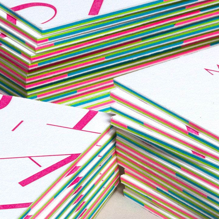Multi layered business cards with letterpress jukeboxprint multi layered business cards with letterpress jukeboxprint colourmoves