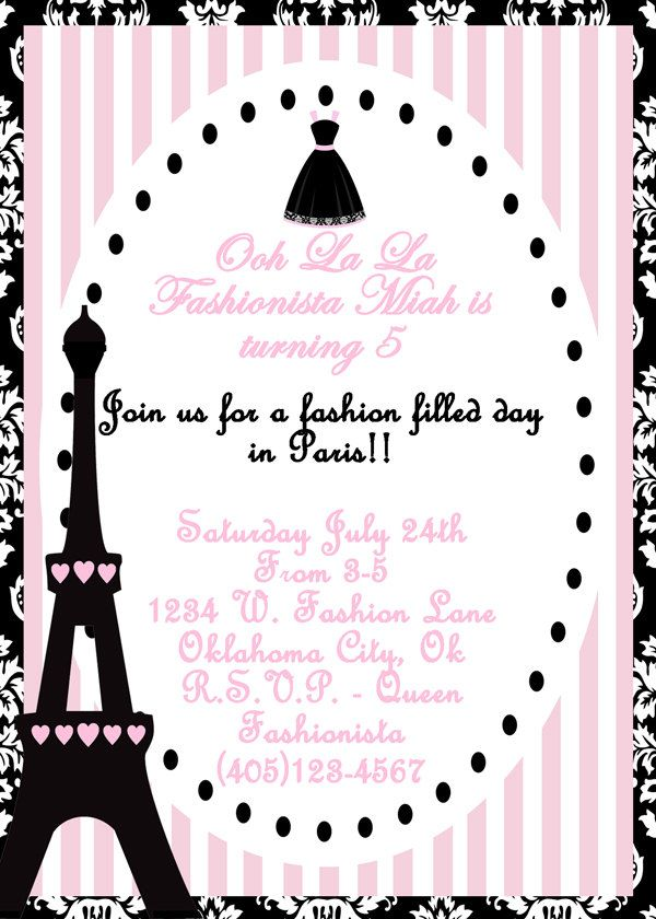 Paris Party Invitation