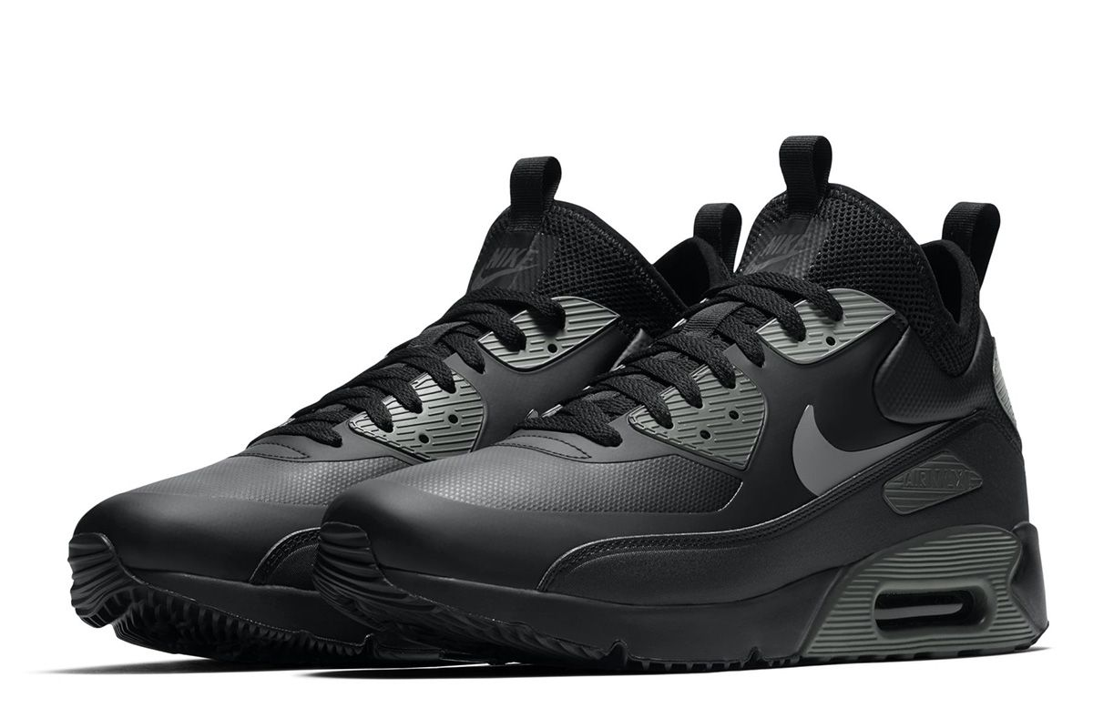 nike air max 90 mid sneakerboot schwarz