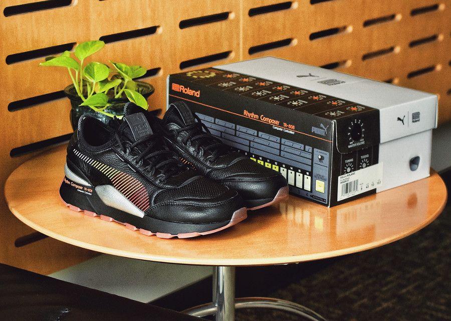 Roland x Puma RS 0 Black 'TR 808' | Baskets en cuir, Basket