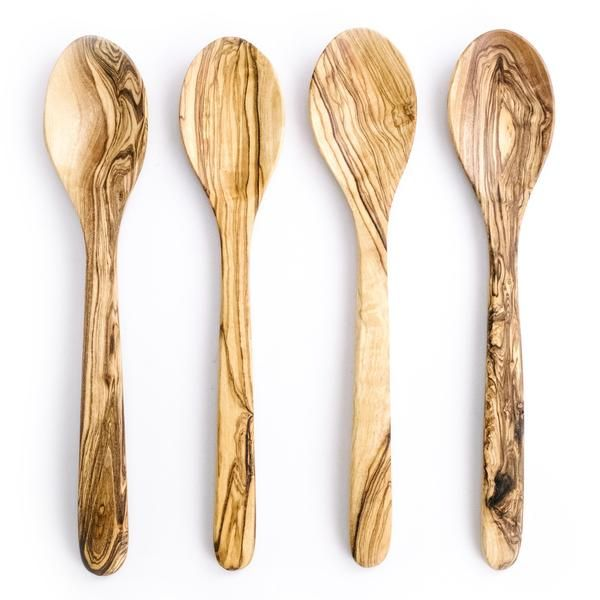 Arte Legno Olive Wood Spoons: Set Of Four Olive Wood Spoons