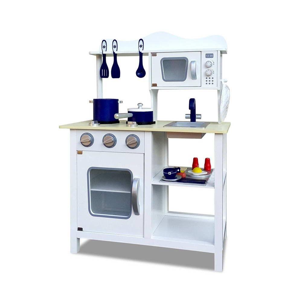 Wooden Childs Kitchen w/ 18pc accessories Children Kids Toddlers ...