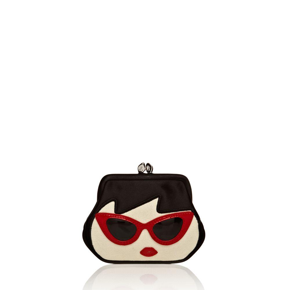 Lulu Guinness sunglasses doll face mini frame purse | Fashion ...