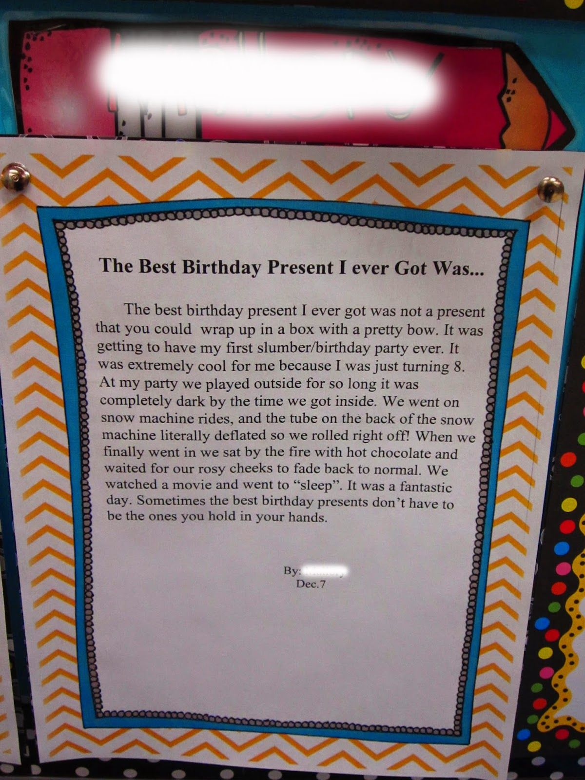 Put some P.O.W. in your Writing! Good birthday presents
