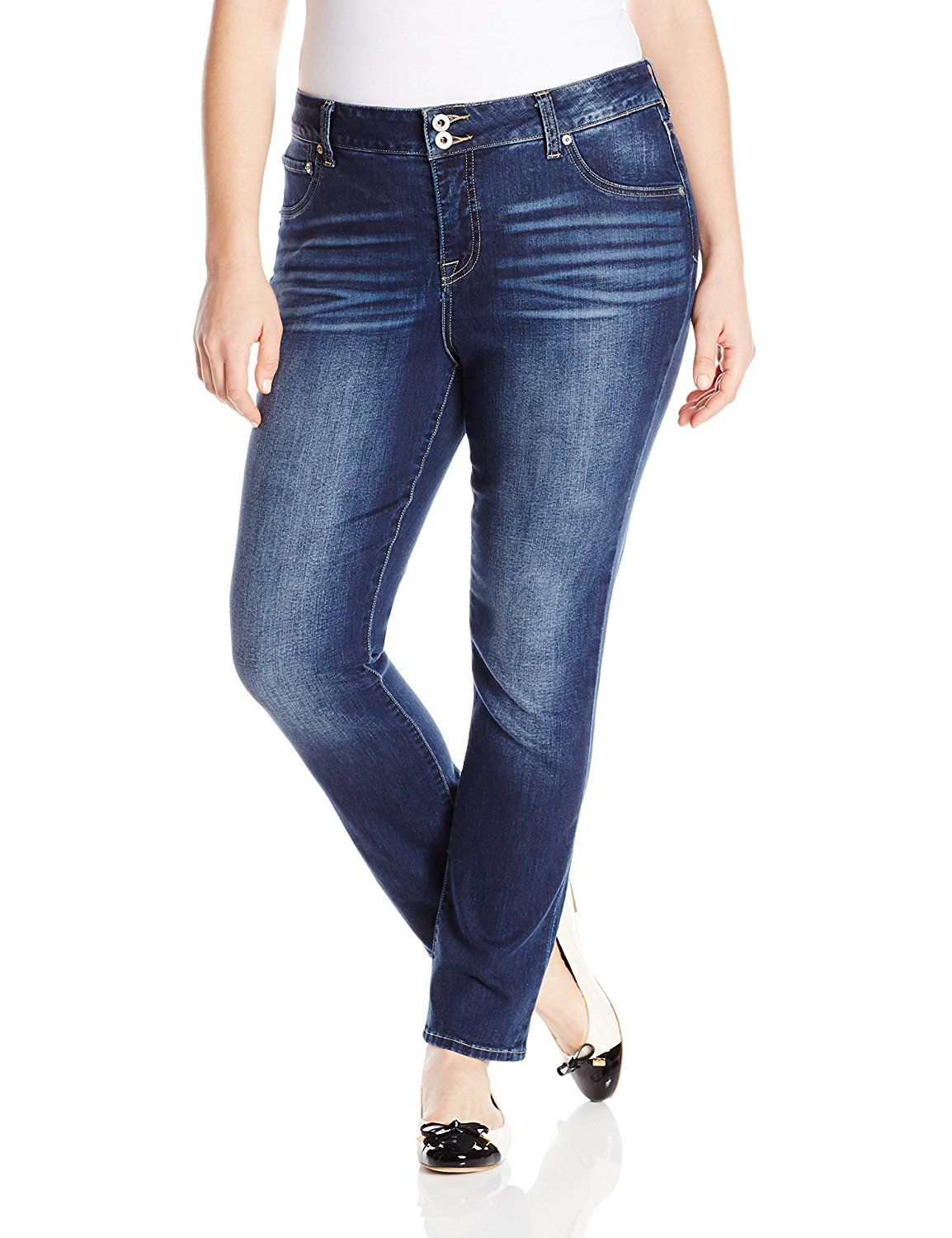 ad0f6393980 Lucky Brand Women s Plus-Size Emma Straight-Leg Jean In Cobalt Blue     To  view further
