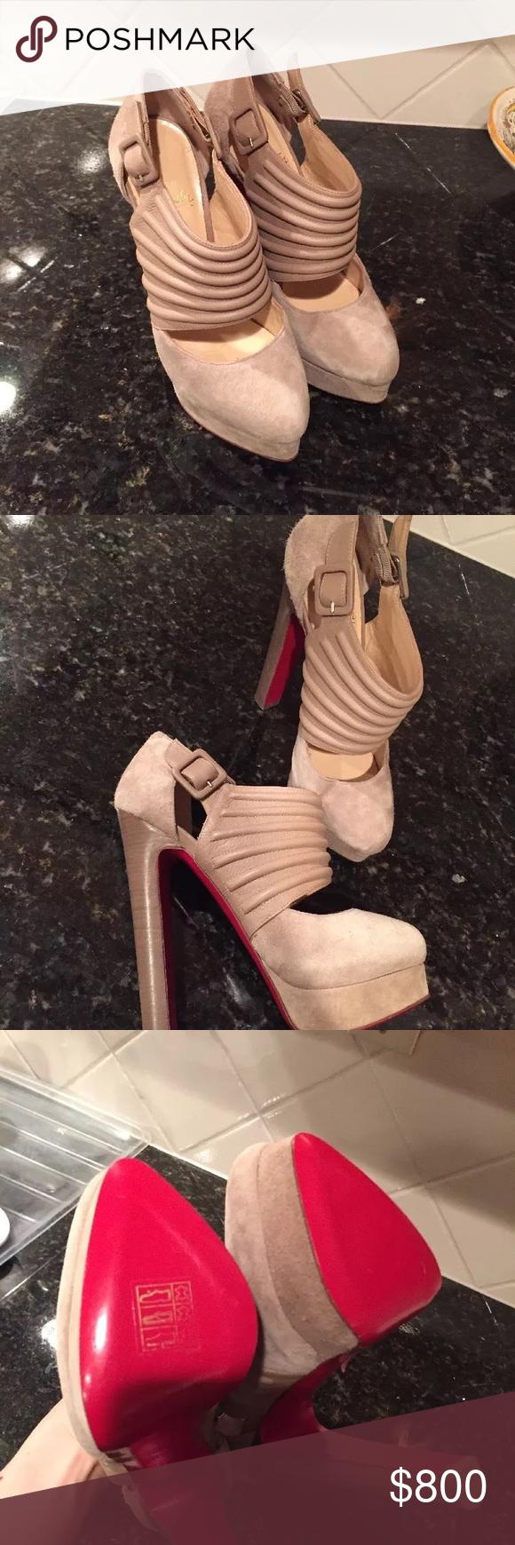 861392a590e Christian Louboutin bye bye 37.5 Brand new 37.5 nude Christian Louboutin  Shoes Heels