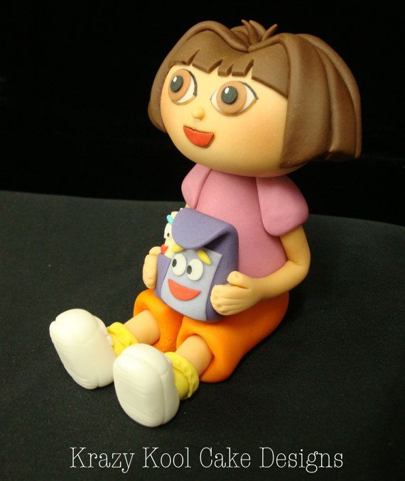 Dora The Explorer Cake Topper Tutorial
