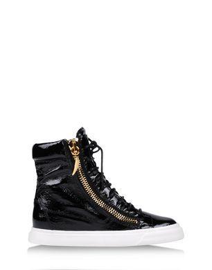 8b74876a2e01 Patent leather black High-top sneaker Women s - GIUSEPPE ZANOTTI DESIGN