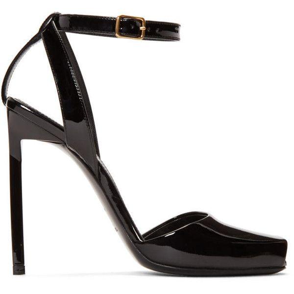 peep toe sandals - Black Saint Laurent 2eO4QwPU6
