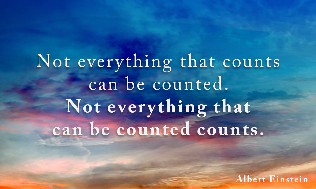 Resultado de imagem para not everything that can be counted counts and not everything that counts can be counted