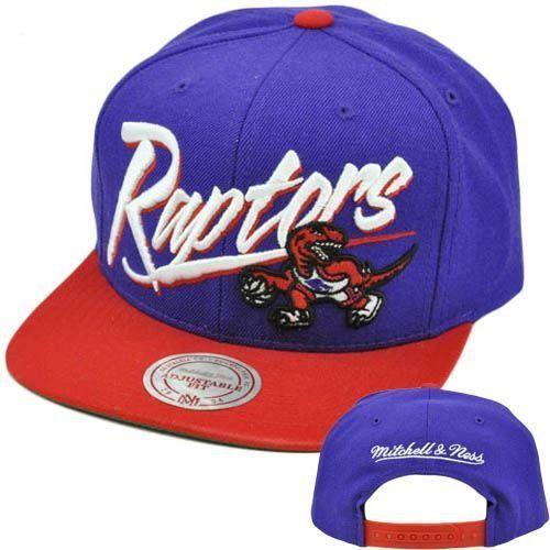 7957c062 NBA Mitchell Ness Vintage Vice Script Snapback Hat Cap Wool NE40 Toronto  Raptors by Mitchell &