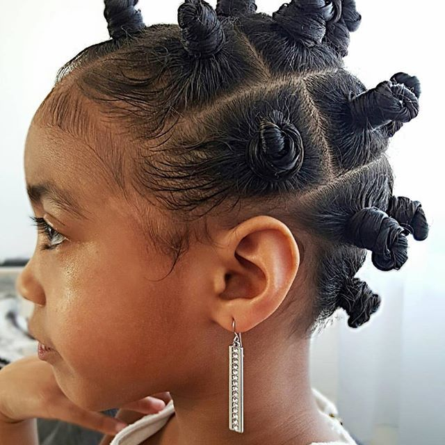 Bantu Knots Pinterest: Bantu Knots Protective Natural Hairstyles For Girl 4c