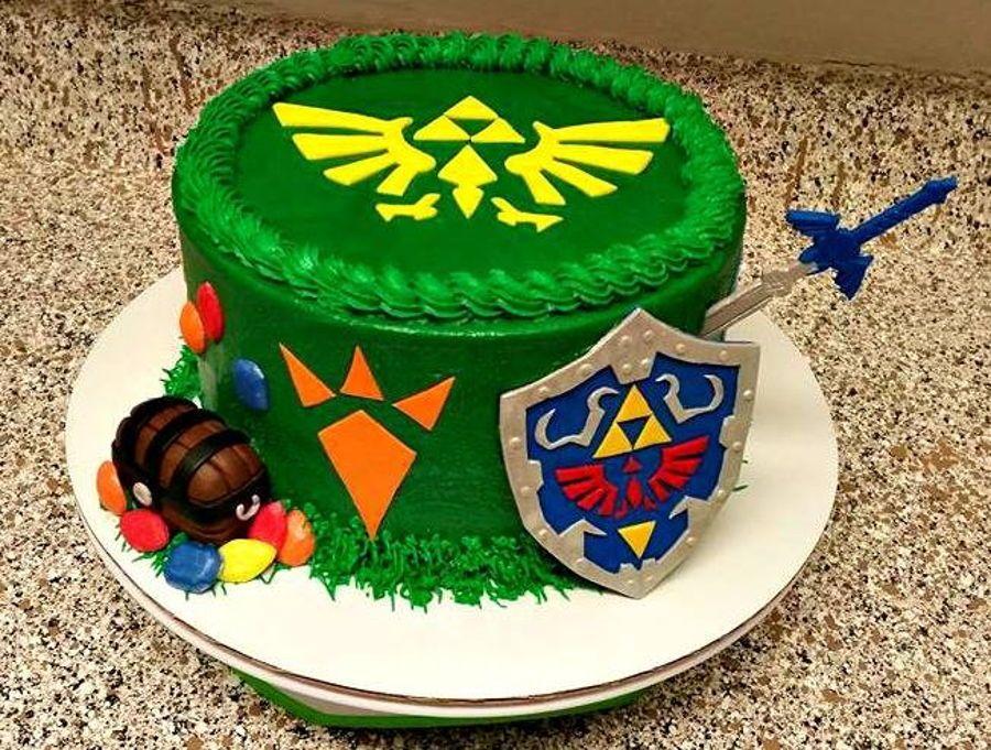 Astonishing Zelda Birthday Cake With Images Zelda Birthday Video Game Funny Birthday Cards Online Elaedamsfinfo