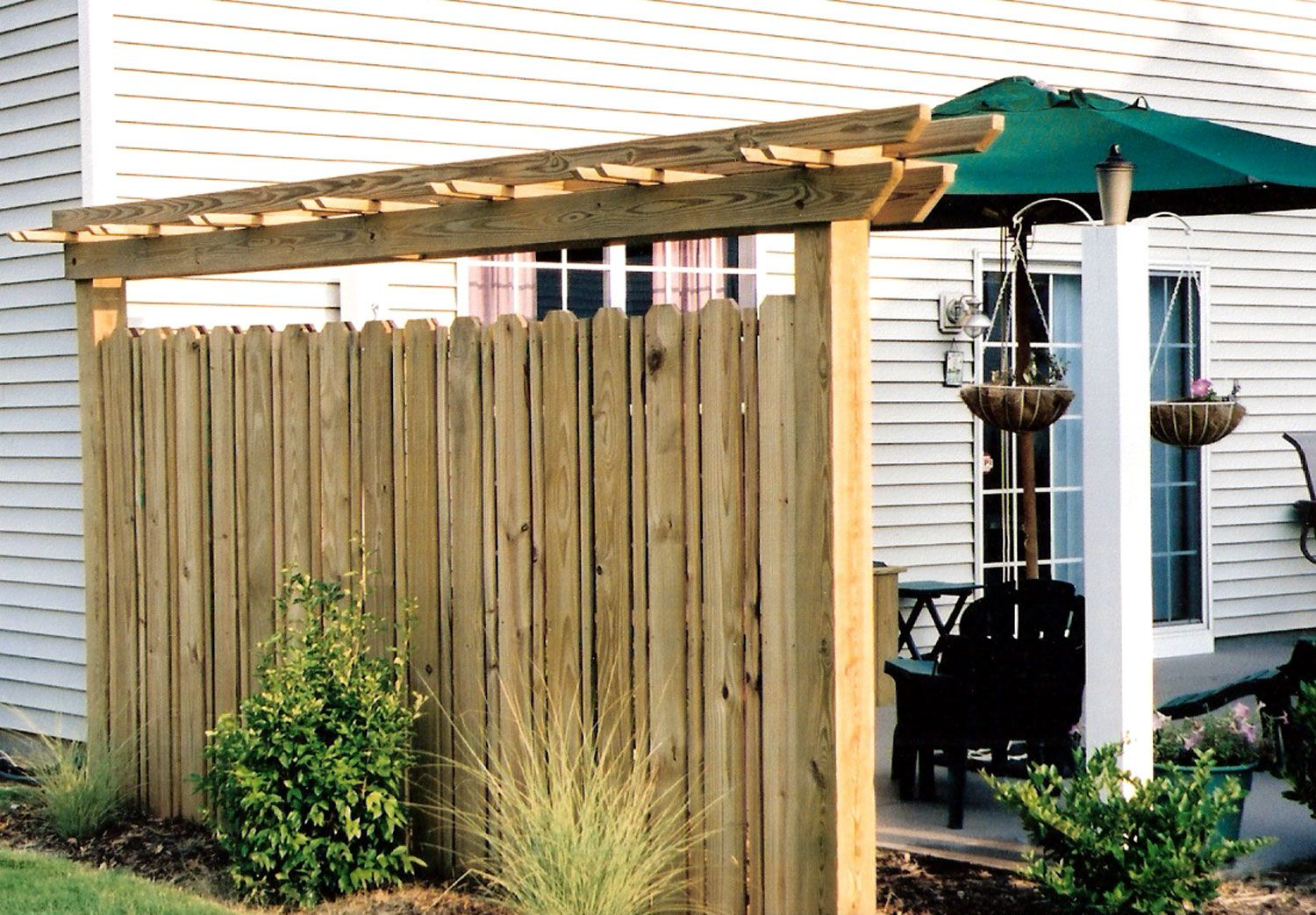 Privacy screen patio deck builders in charlotte and also for Backyard patio privacy ideas
