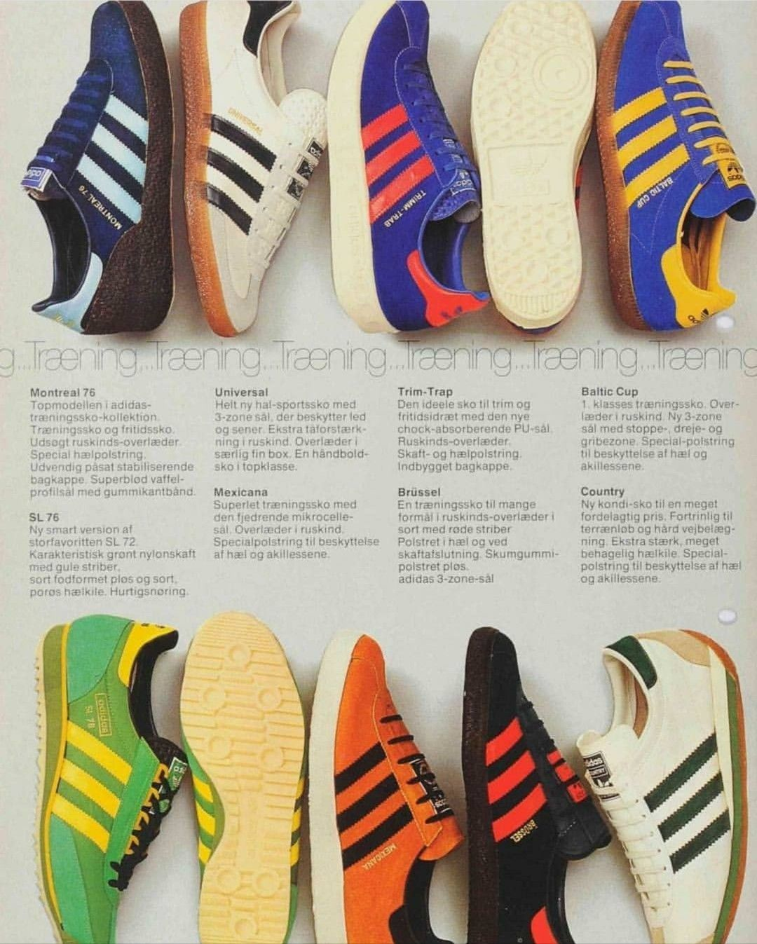 detailed look 0eac1 d0285 Fantastic adidas brochure from 1979 showing such treasures as Baltic Cup,  Trimm Trab, Mexicana, Brussel etc