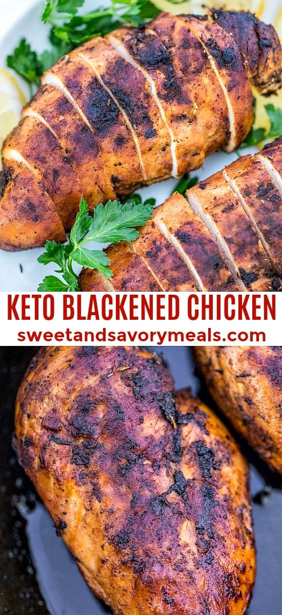 Keto Blackened Chicken [video] - Sweet and Savory Meals #blackenedchicken