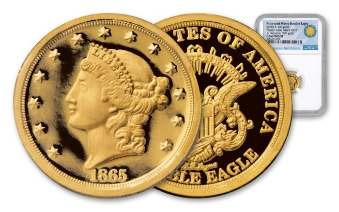 2017 1 10 Oz Gold Longacre 1865 Double Eagle Ngc Gem Proof Gold Silver Coins Gold Silver Coins