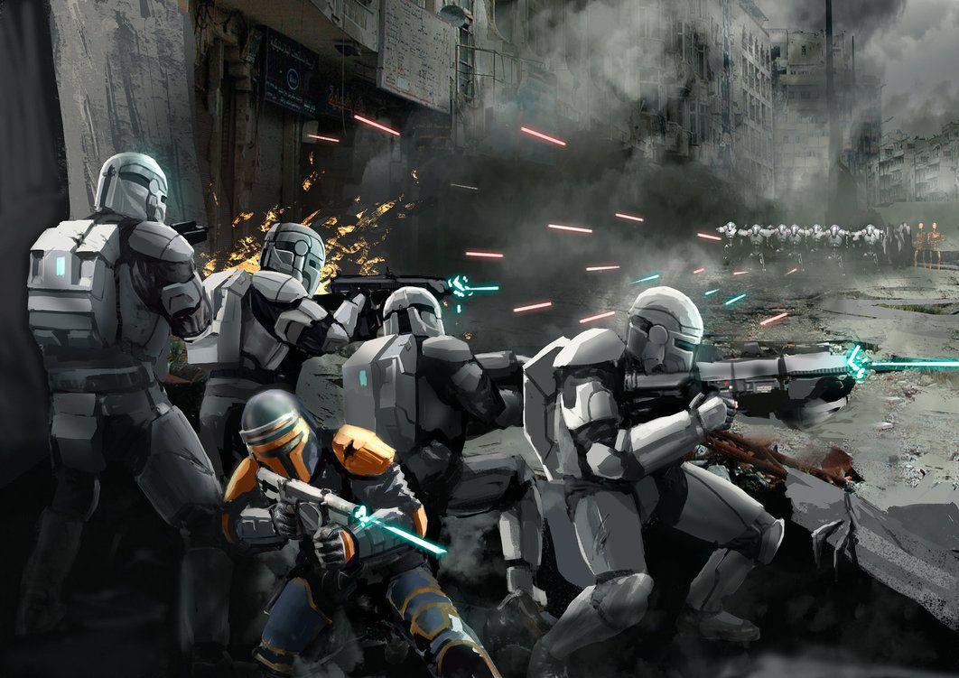 Republic Commando In Battle By Entar0178 On Deviantart Star Wars