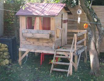 Cabane Pour Enfant En Bois De Récup Diypalettecabane Enfant