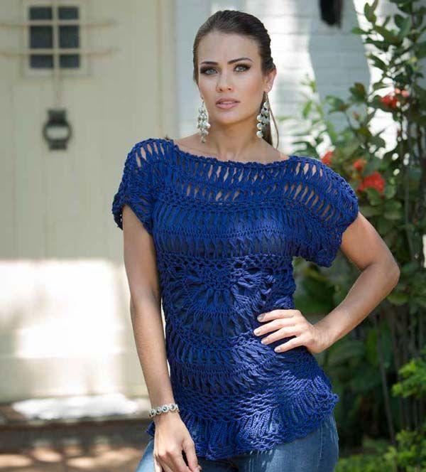 Blusa Crochê de Grampo - Linha Camila Fashion - Blog do Bazar Horizonte -  Maior Armarinho Virtual do Brasil f0a8c358dd3