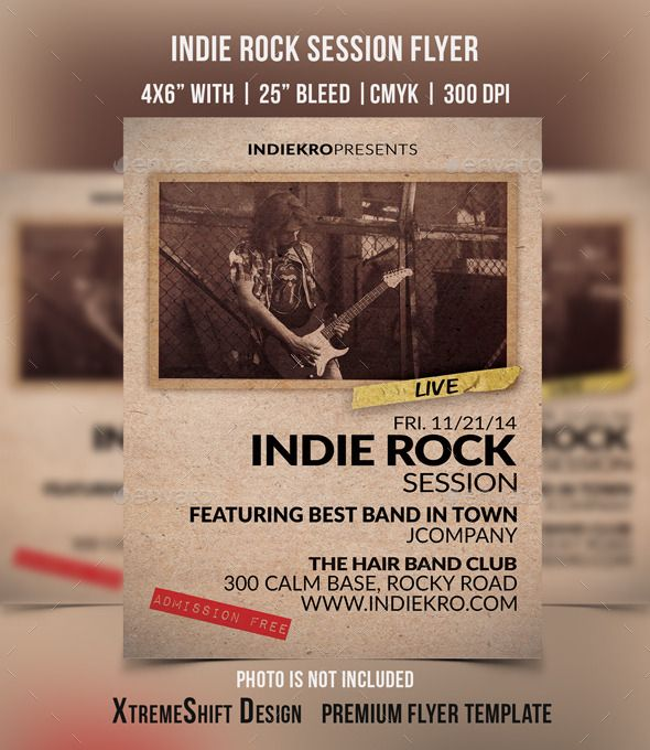 indie rock session flyer flyer sizeconcert