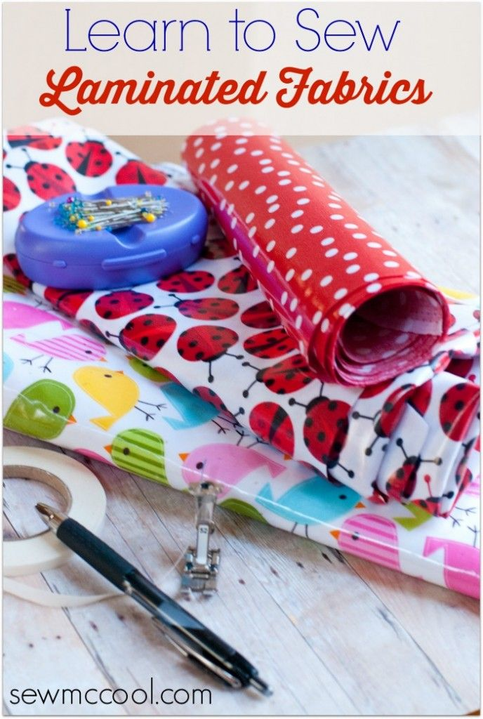 How to Sew Laminated Fabric.  Need this for making bags to hold wet swimming gear.