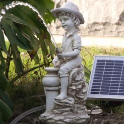 Boy Garden Pond Spitter 5-watt Solar Water Pump Kit | For when I