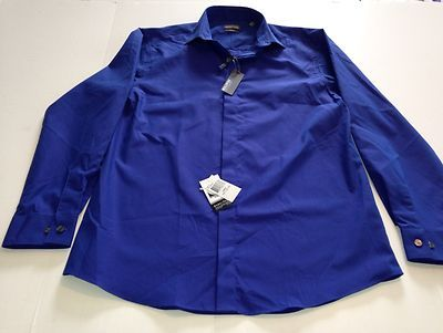 Kenneth Cole Reaction Slim Fit 15 1/2 32-33 Cobalt Blue New Wrinkle Free                            $27.95 OBO free ship