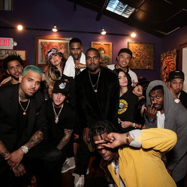 Chris Brown J Cole Jennifer Lopez Justin Bieber Big Sean Kanye West Alfredo Flores Kendall Jenner Kylie Jenner Tyga Meek M Big Sean Chris Brown Tyga
