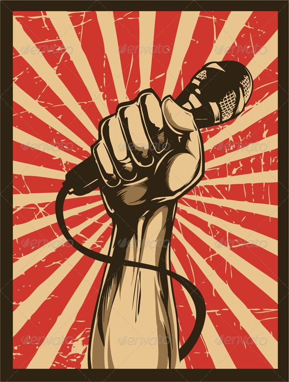 Revolution fist with microphone Google images, Revolution and Google