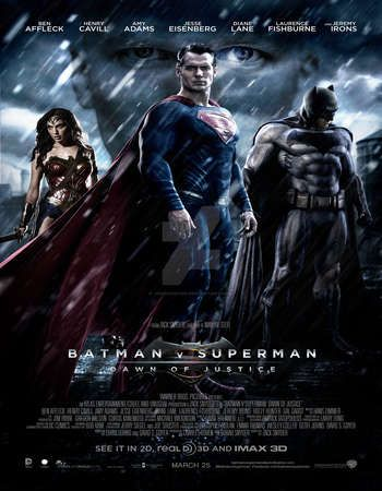Poster Of Batman V Superman Dawn Of Justice  Hindi Dubbed Mb Dvdscr Free Download Watch Online