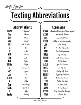 Common abbreviations, acronyms, and l33t-speak translations are ...