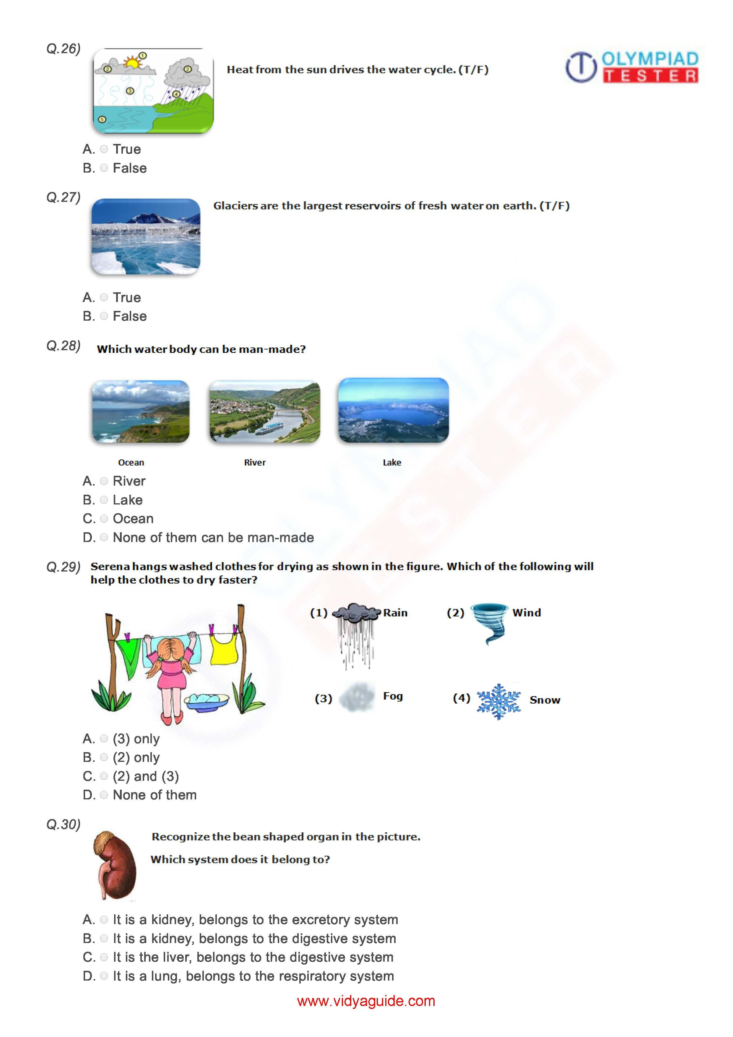 Class 3 NSO Worksheet 02 To prepare for National Science